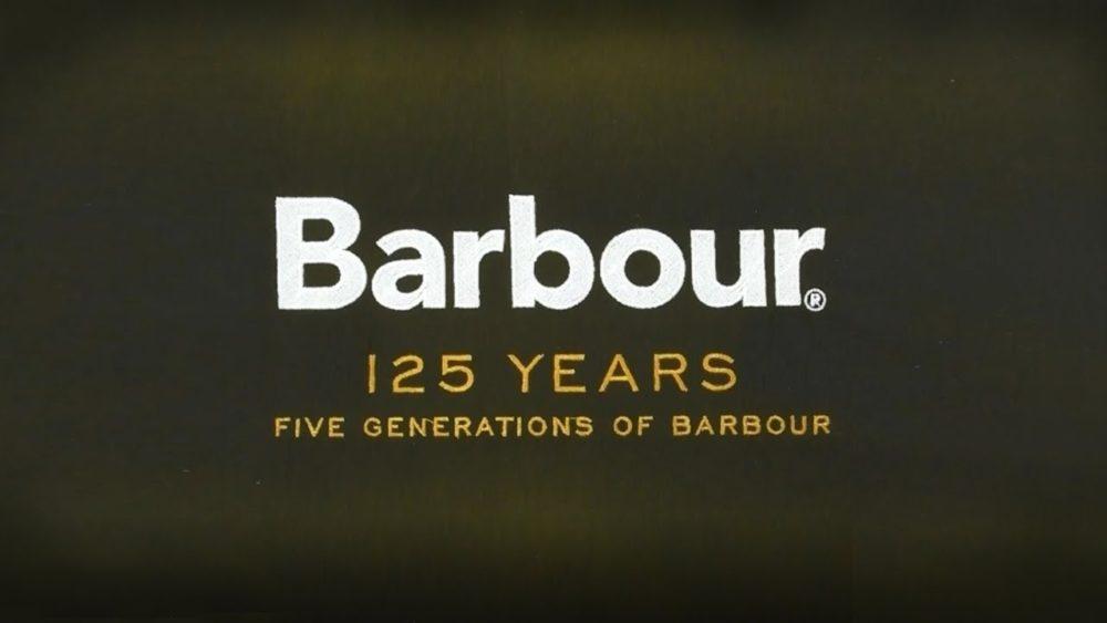 Het logo van Barbour 125 years